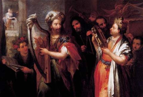 king david plays the zither