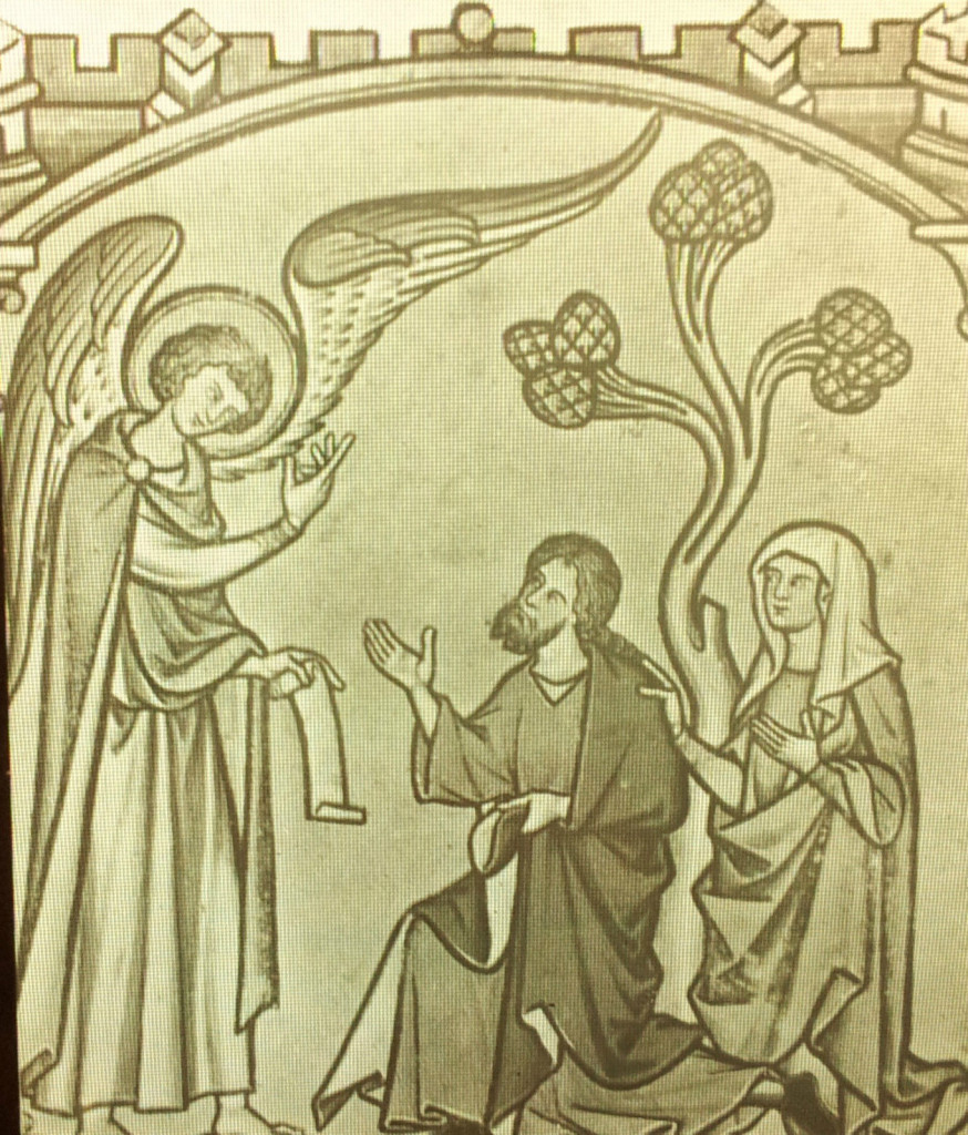 Annunciation-Samsons-Birth-c1250-Maciejowaki-Bible-Magic-Lantern-Glass-Slide
