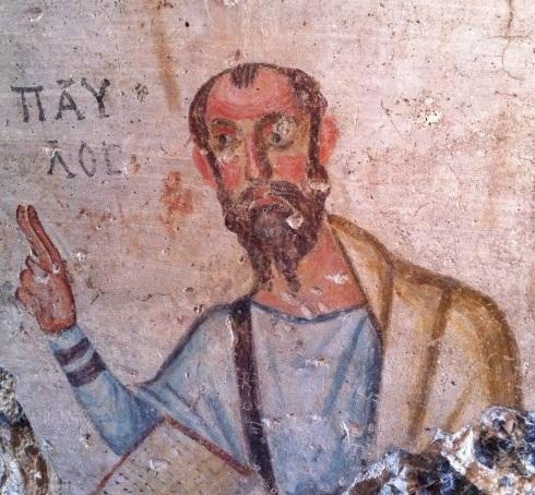 fresco of apostle paul