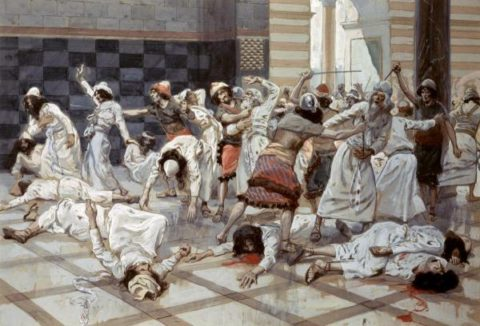 tissot-saul-commands-doeg-to-slay-the-priests-600